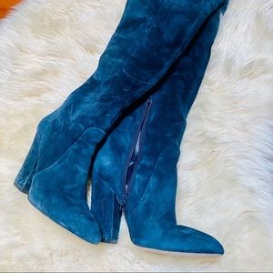 Over the Knee Blue Aldo suede boots sz 6